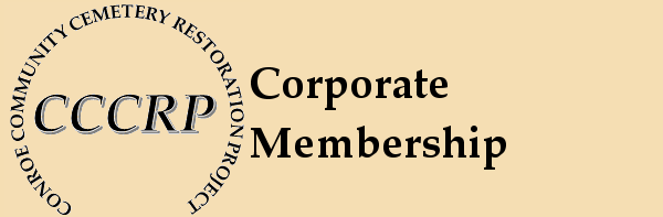 Corporate Membership in the Conroe Community Cemetery Restoration Project