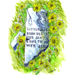 Little Luceil Headstone Watercolor Painting by Jim Kuykendall