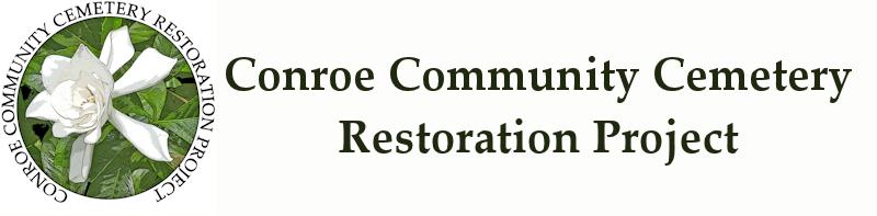 Conroe Community Cemetery Gardenia Logo